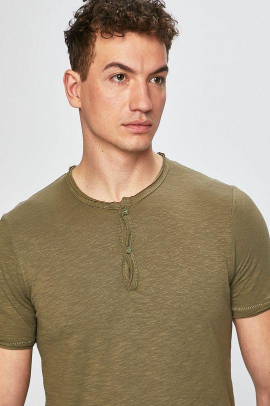 olivová Produkt by Jack & Jones - Pánske tričko