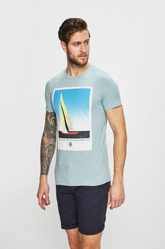 svetlomodrá Produkt by Jack & Jones - Pánske tričko Pánsky