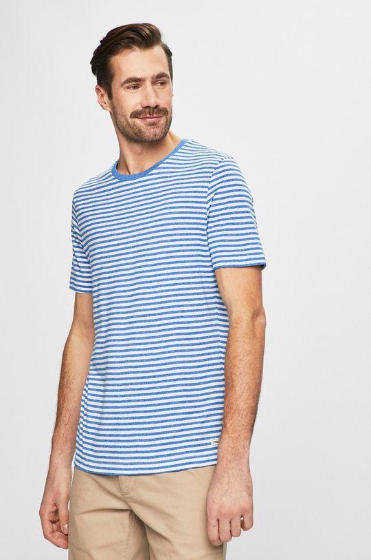 modrá Produkt by Jack & Jones - Pánske tričko Pánsky