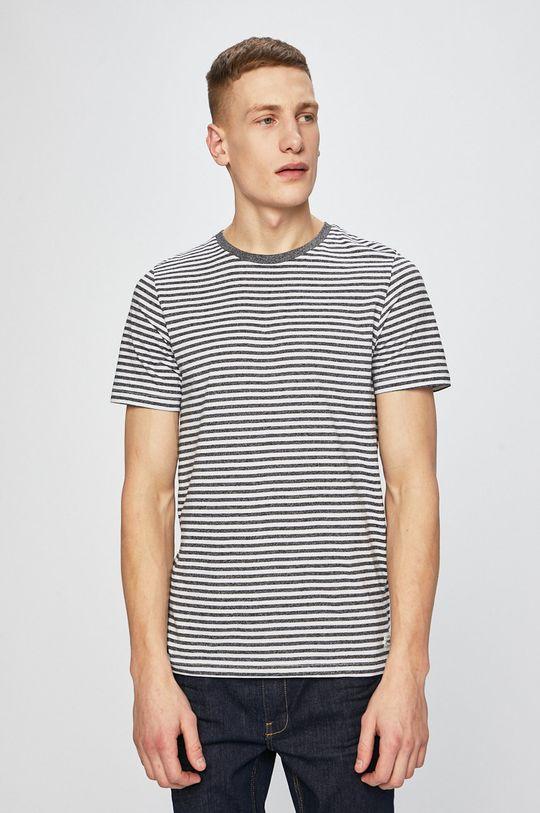 grafitová Produkt by Jack & Jones - Pánske tričko Pánsky