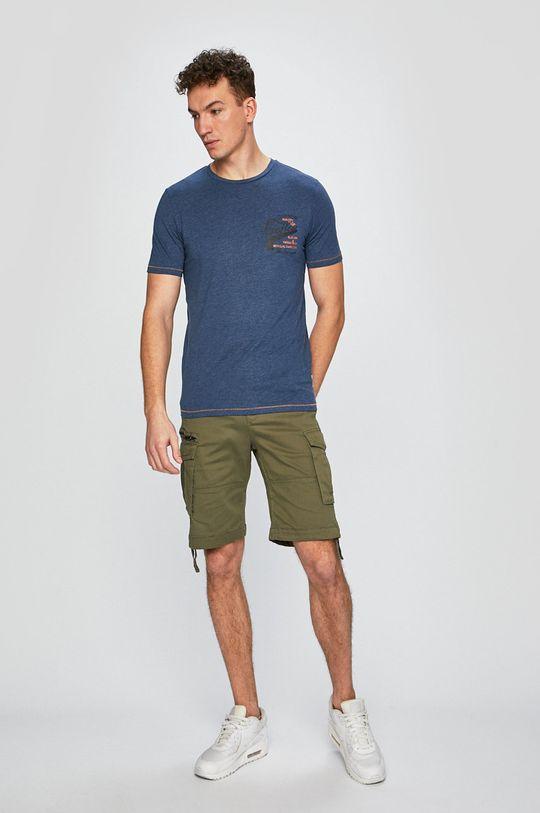 Produkt by Jack & Jones - Pánske tričko tmavomodrá