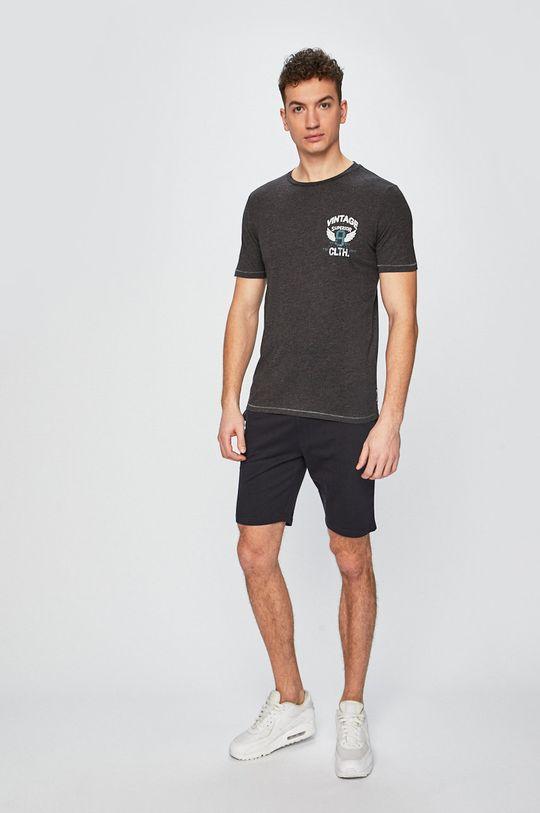 Produkt by Jack & Jones - Pánske tričko grafitová