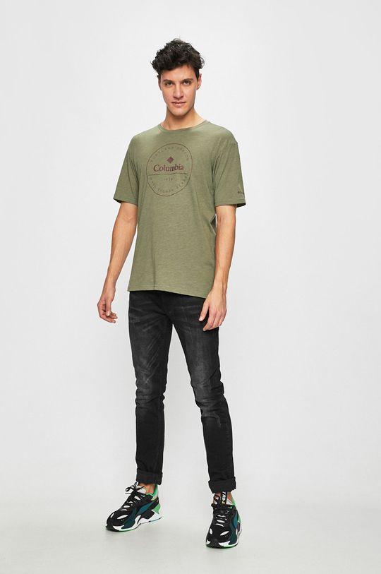 Columbia - Tricou verde murdar