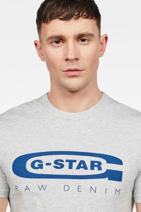 G-Star Raw - Tričko světle šedá