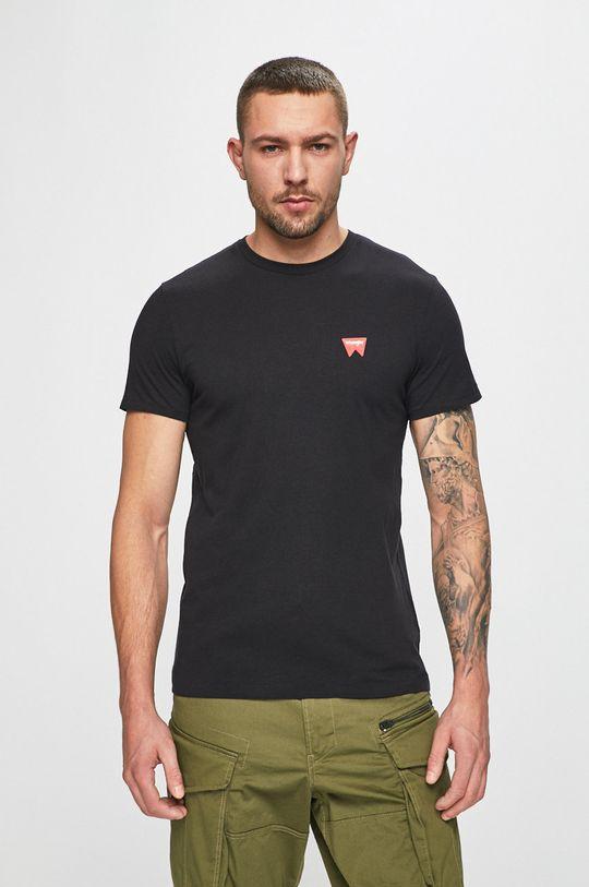 negru Wrangler - Tricou De bărbați