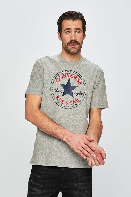 szary Converse - T-shirt Męski