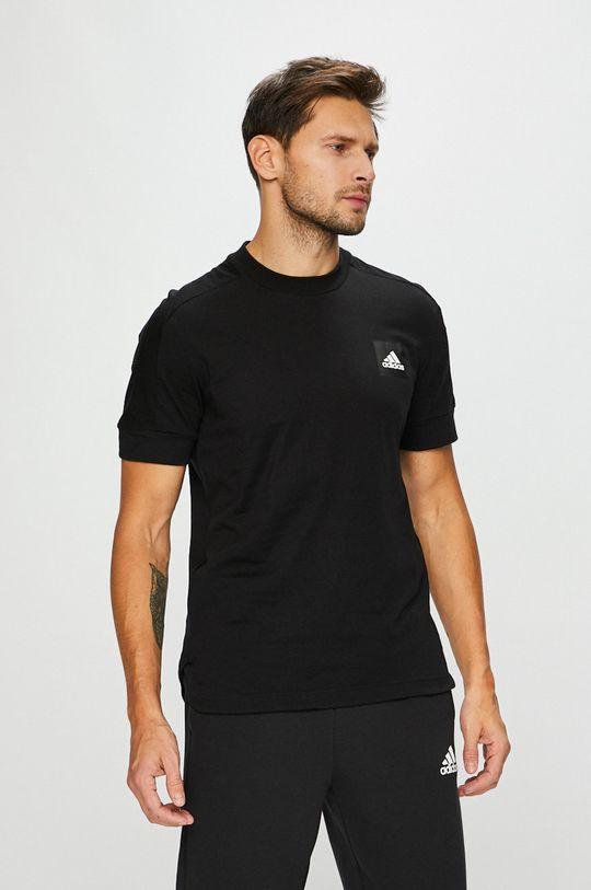 fekete adidas Performance - T-shirt Férfi