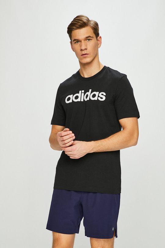 čierna adidas Performance - Pánske tričko Pánsky