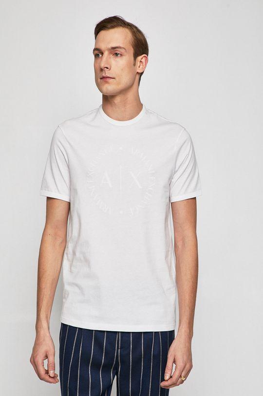 biela Armani Exchange - Pánske tričko Pánsky