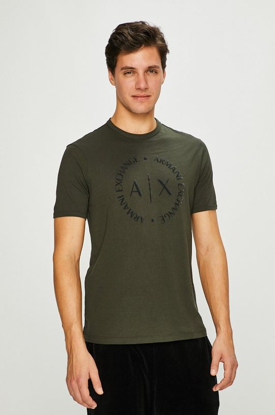 zelená Armani Exchange - Pánske tričko Pánsky