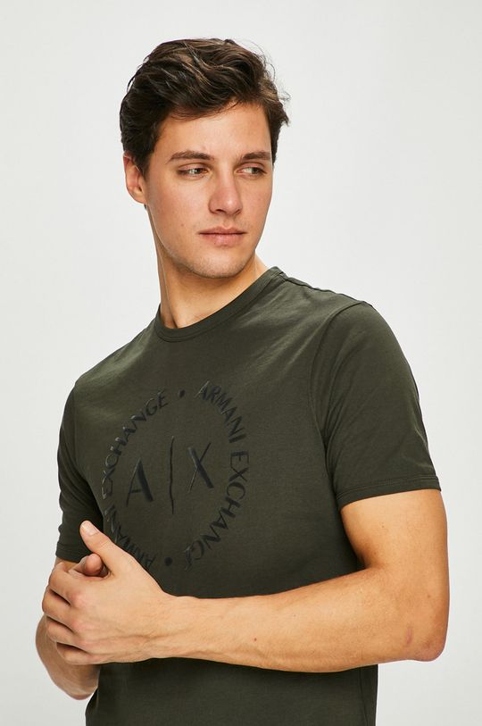 zelená Armani Exchange - Pánske tričko