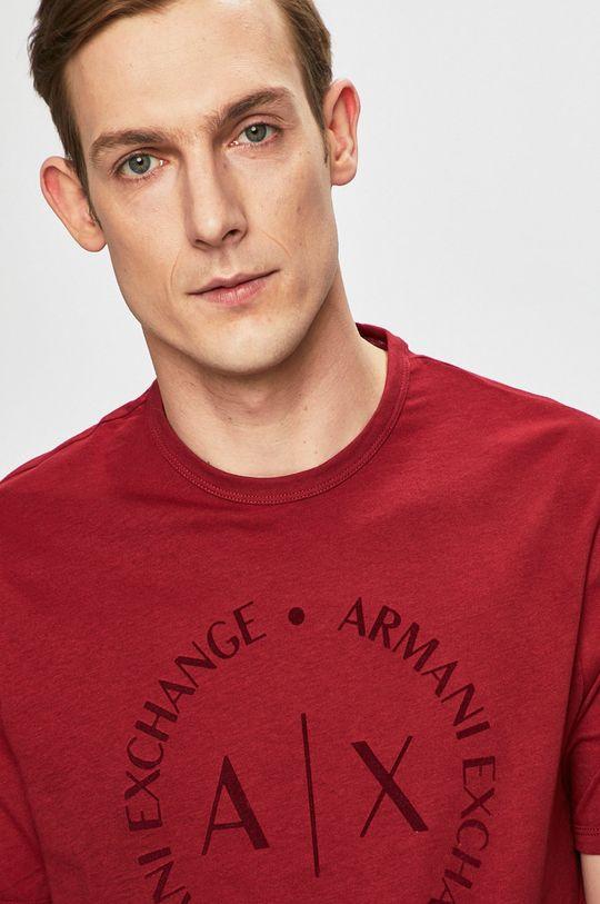 gaštanová Armani Exchange - Pánske tričko