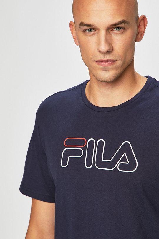 tmavomodrá Fila - Pánske tričko Pánsky