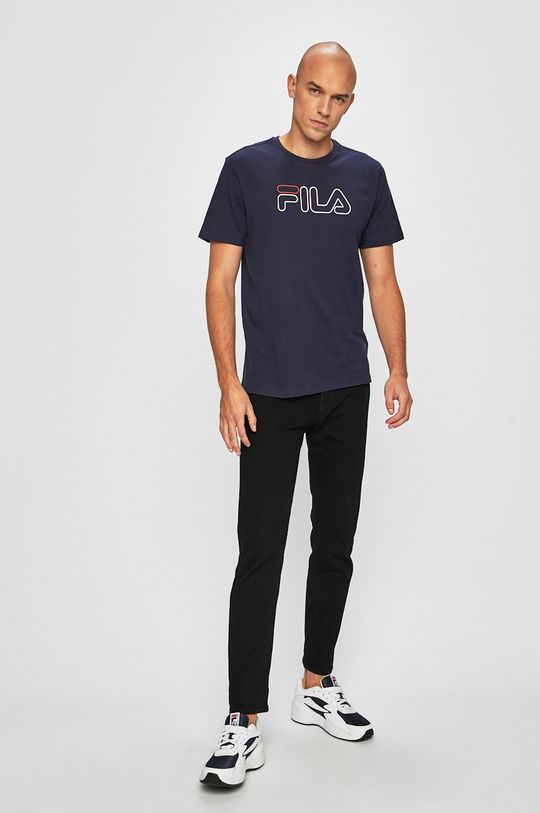 Fila - Pánske tričko tmavomodrá