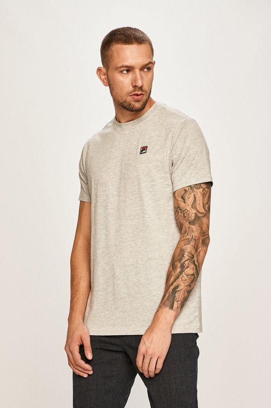 jasny szary Fila - T-shirt Męski