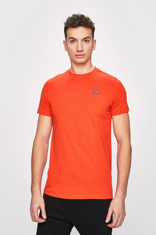 brzoskwiniowy Fila - T-shirt Męski
