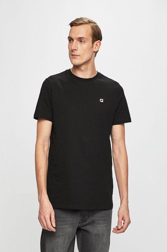 czarny Fila - T-shirt Męski