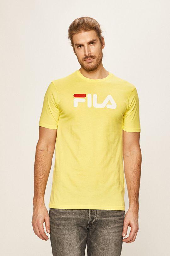 jasny żółty Fila - T-shirt Męski