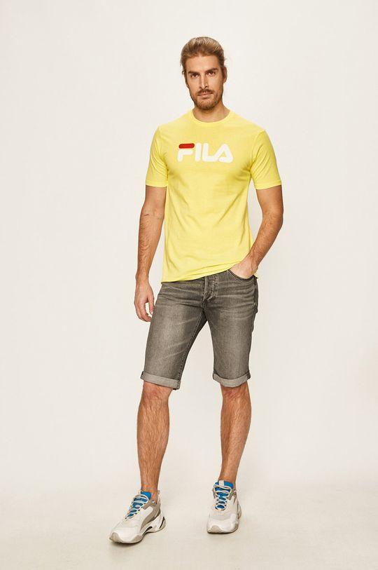 Fila - T-shirt jasny żółty