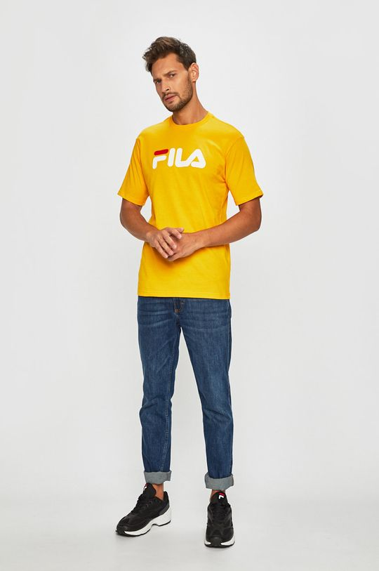 Fila - T-shirt żółty