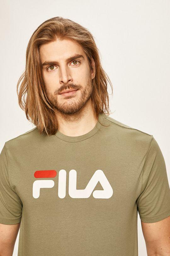 brudny zielony Fila - T-shirt Męski