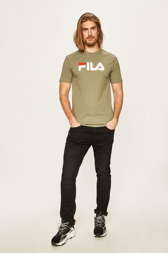 Fila - T-shirt brudny zielony