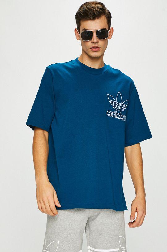 sötét türkiz adidas Originals - T-shirt Férfi