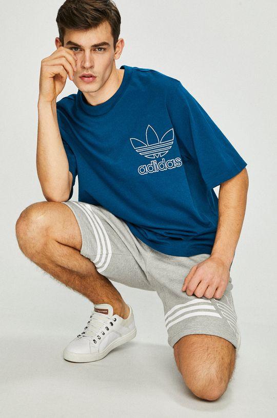 tmavě tyrkysová adidas Originals - Tričko