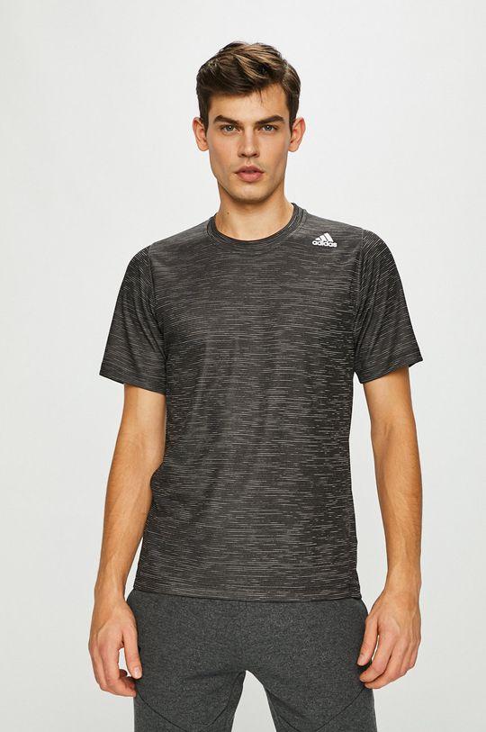 grafitová adidas Performance - Pánske tričko Pánsky