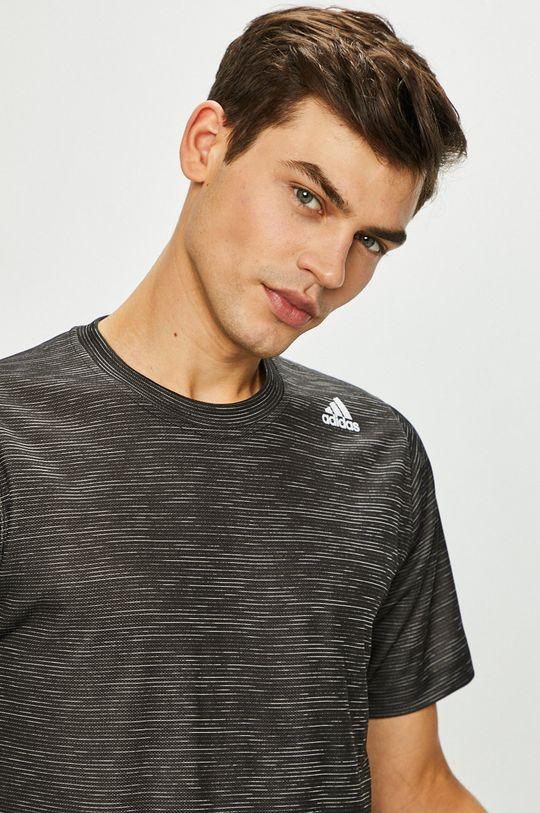 grafitová adidas Performance - Pánske tričko