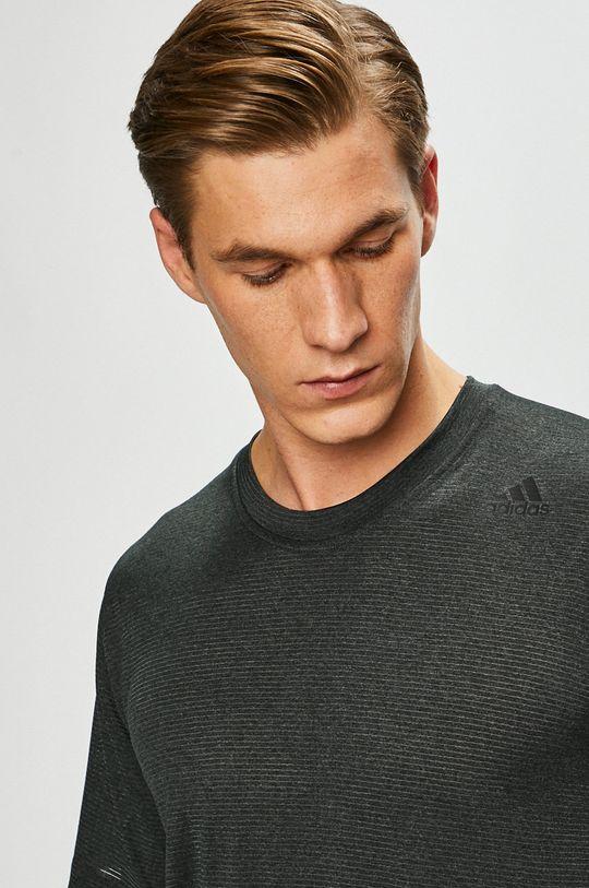 sivá adidas Performance - Pánske tričko Pánsky