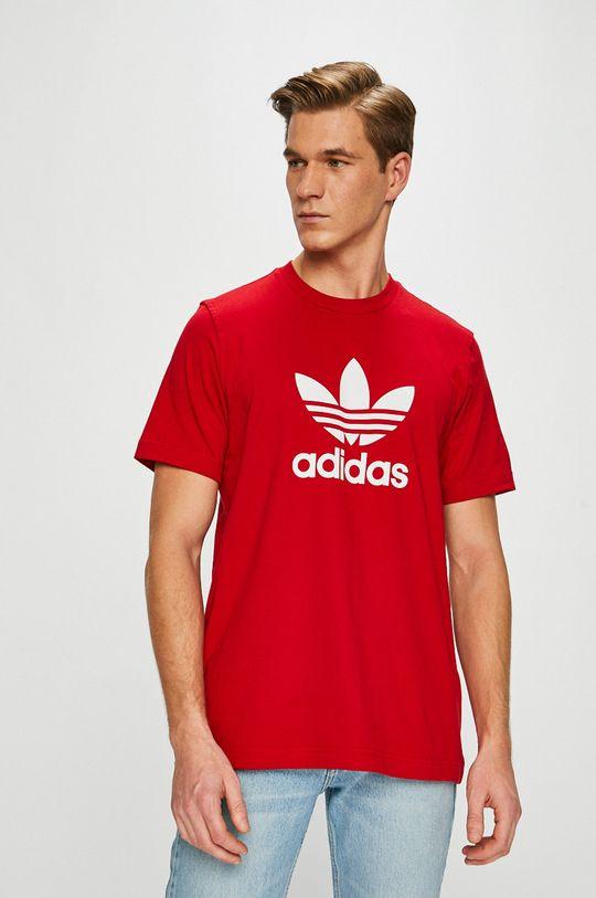 červená adidas Originals - Pánske tričko Pánsky