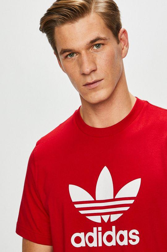 červená adidas Originals - Pánske tričko