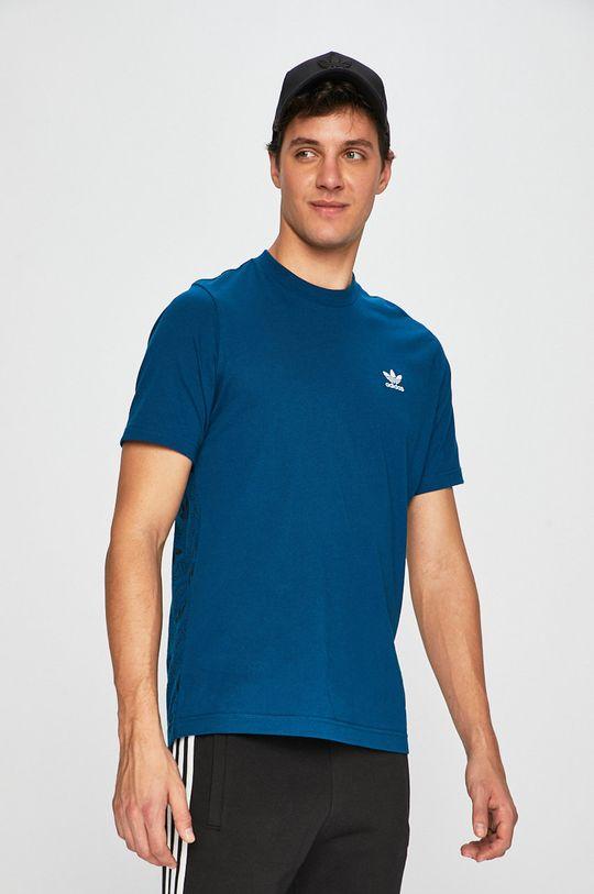 tmavo tyrkysová adidas Originals - Pánske tričko Pánsky