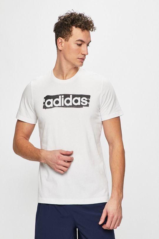 biela adidas Performance - Pánske tričko Pánsky