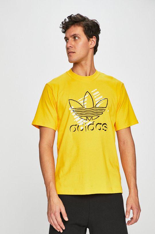 žltá adidas Originals - Pánske tričko Pánsky