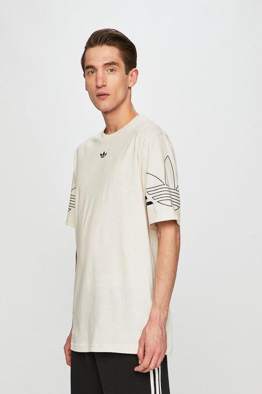 krémová adidas Originals - Pánske tričko Pánsky