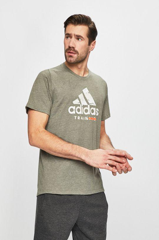 zelená adidas Performance - Pánske tričko Pánsky