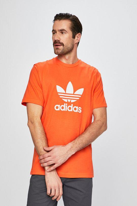 oranžová adidas Originals - Pánske tričko Pánsky