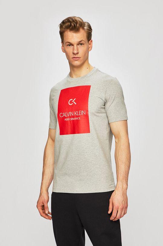 světle šedá Calvin Klein Performance - Tričko Pánský