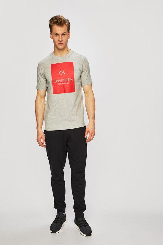 Calvin Klein Performance - Tričko světle šedá