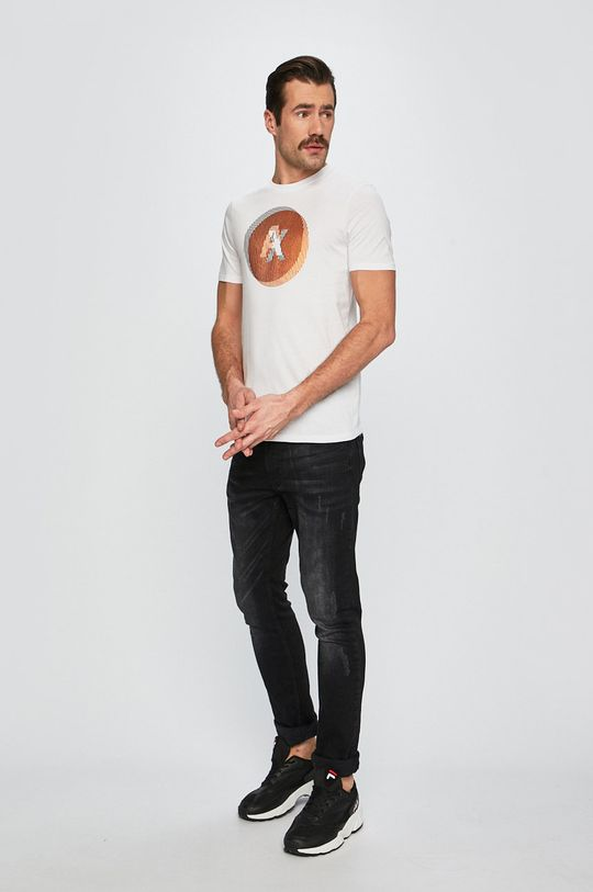 Armani Exchange - Pánske tričko biela