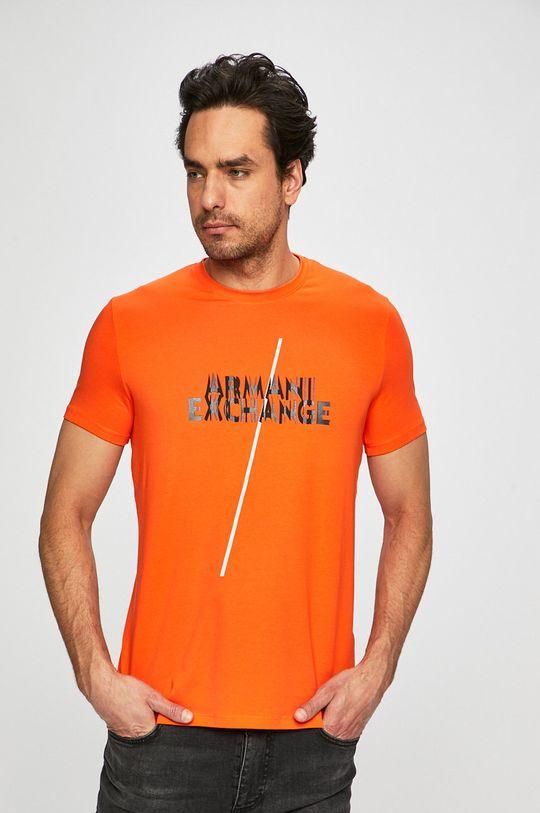 medená Armani Exchange - Pánske tričko Pánsky