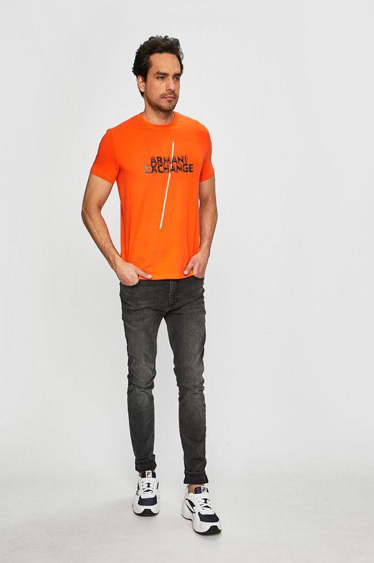 Armani Exchange - Pánske tričko medená