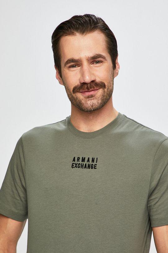 vojenská zelená Armani Exchange - Pánske tričko