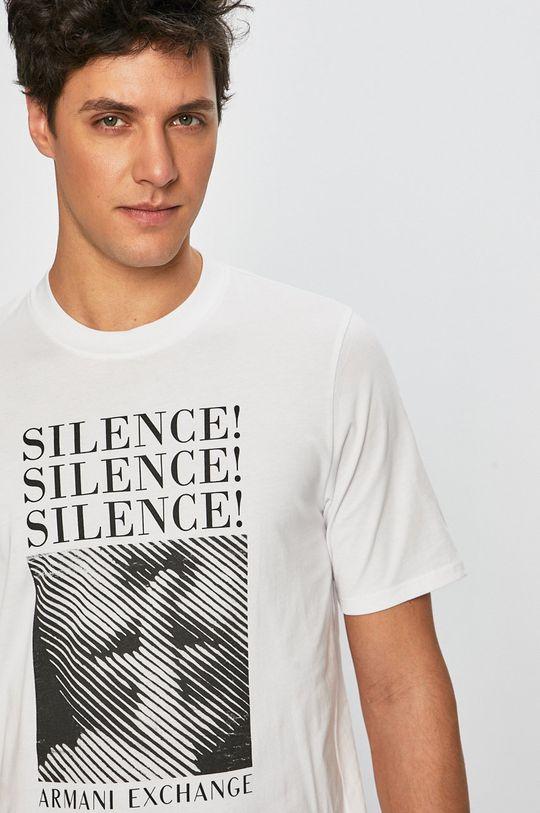 biela Armani Exchange - Pánske tričko