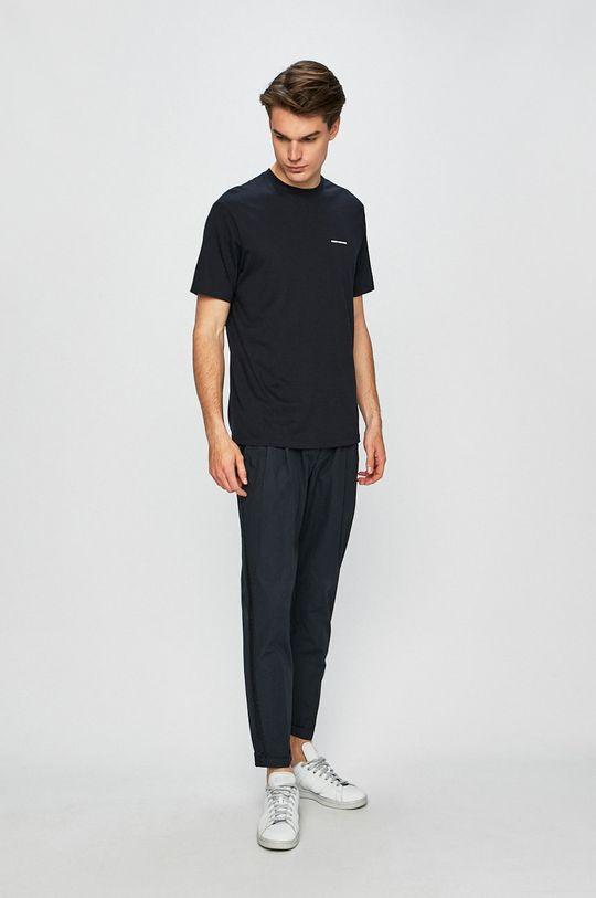 Armani Exchange - Pánske tričko tmavomodrá