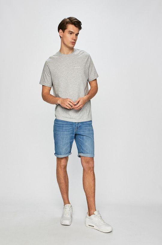 Armani Exchange - Pánske tričko sivá
