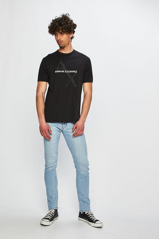 Armani Exchange - Pánske tričko čierna