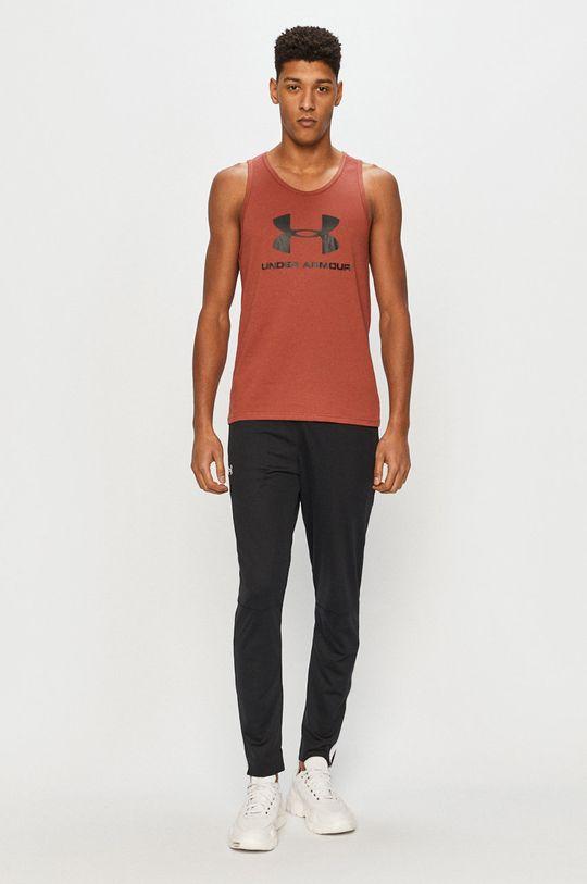 Under Armour - T-shirt brązowy